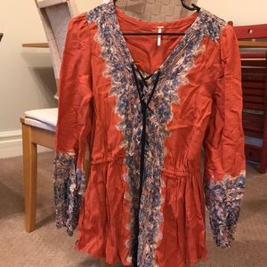 Free people orange tunic